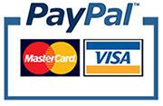 Zahlung mit Paypal oder Kreditkarte
