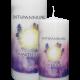 Engelalm Energiekerze Amethyst - kristall_entspannung
